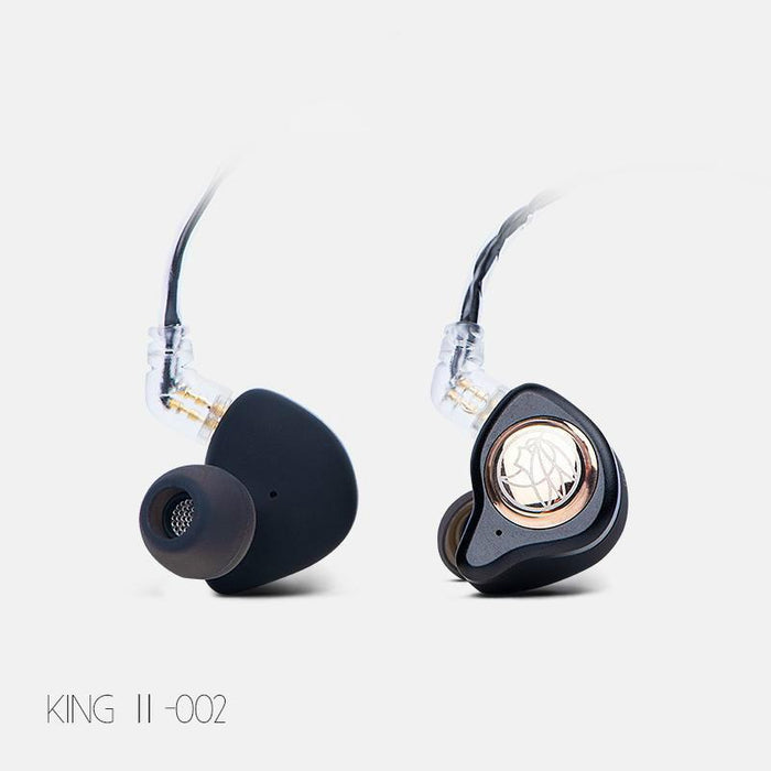 TFZ KING II HiFi In-ear Monitor Earphone Dynamic Graphene Driver Earphone HiFiGo Black
