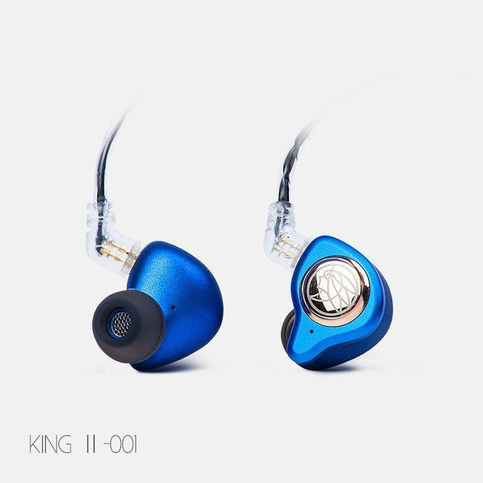 TFZ KING II HiFi In-ear Monitor Earphone Dynamic Graphene Driver Earphone HiFiGo Blue