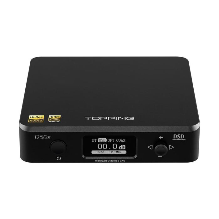 TOPPING D50S Bluetooth 5.0 ES9038Q2M AUDIO Decoding USB DAC HiFiGo