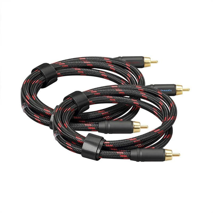 TOPPING TCR2 6N Single Crystal Copper Gold-Plated RCA Cable HiFiGo