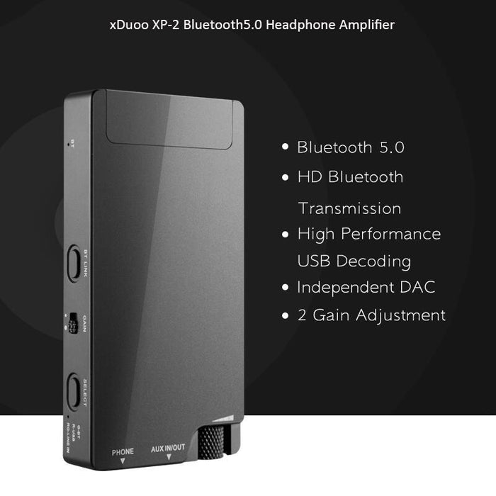 XDUOO XP-2 Portable bluetooth V5.0 USB DAC Headphone Amplifier HD Signal Transmission PC USB DAC for APPLE for ANDROID HiFiGo