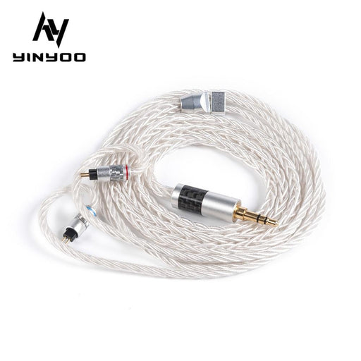 Yinyoo 8 Core 7N Single Crystal Copper Upgraded Cable 2.5/3.5/4.4MM HiFiGo