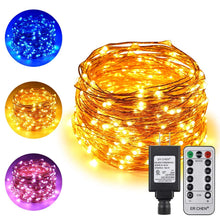 Load image into Gallery viewer, Dual-Color LED String Lights ER CHEN , 66 FT 200 LEDs Plug in Copper Wire