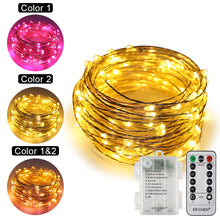 Load image into Gallery viewer, Copper Wire Fairy String Lights ER CHEN, 10M 100 LED 3AA Battery Powered Waterproof Decorative Lights