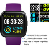 V12C Purple IP68 Waterproof Smart Watch