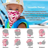 Innovative Fabric Neck Gaiter Dust Sun UV Wind Protection for Child (5pcs)
