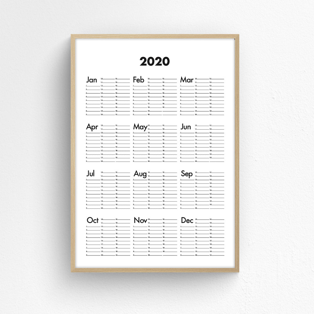 Wall Planner - 2020
