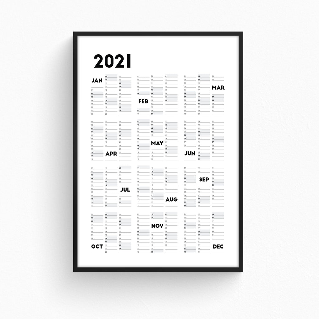 2021 Wall Planner Portrait