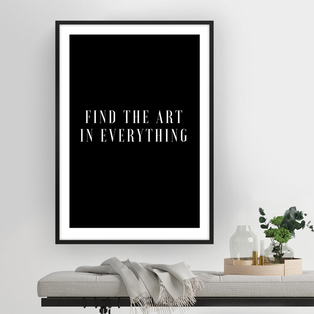 Find The Art In Everything
