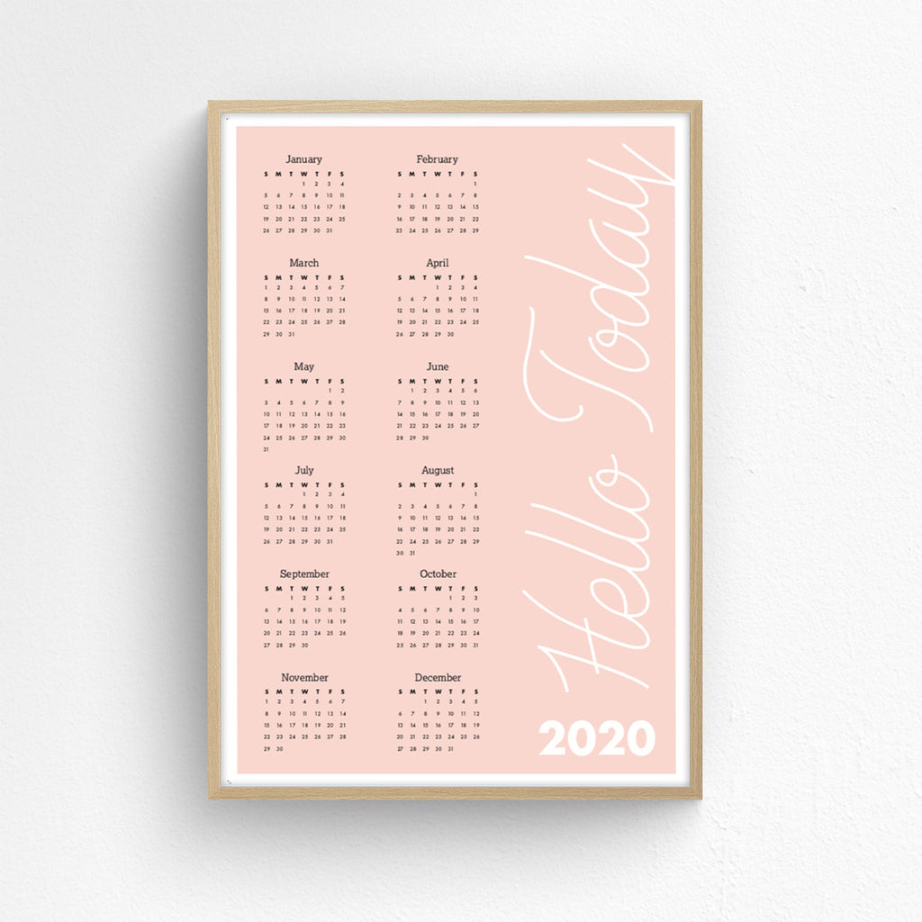 Wall Planner - Hello Today 2020
