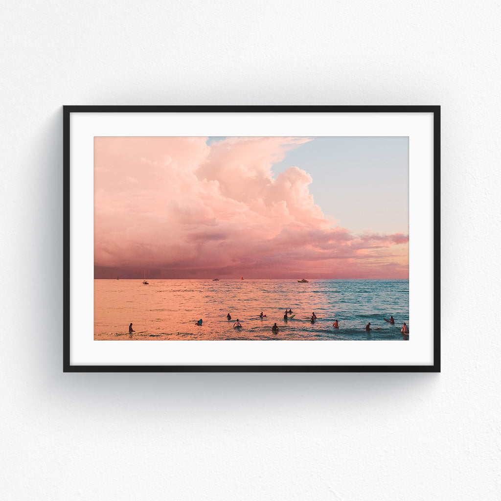 Sunset Surf - Waikiki Landscape