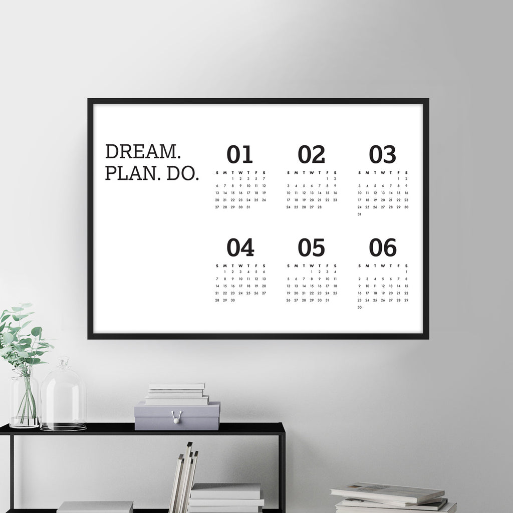 Wall Planner - 2019, 6 Months