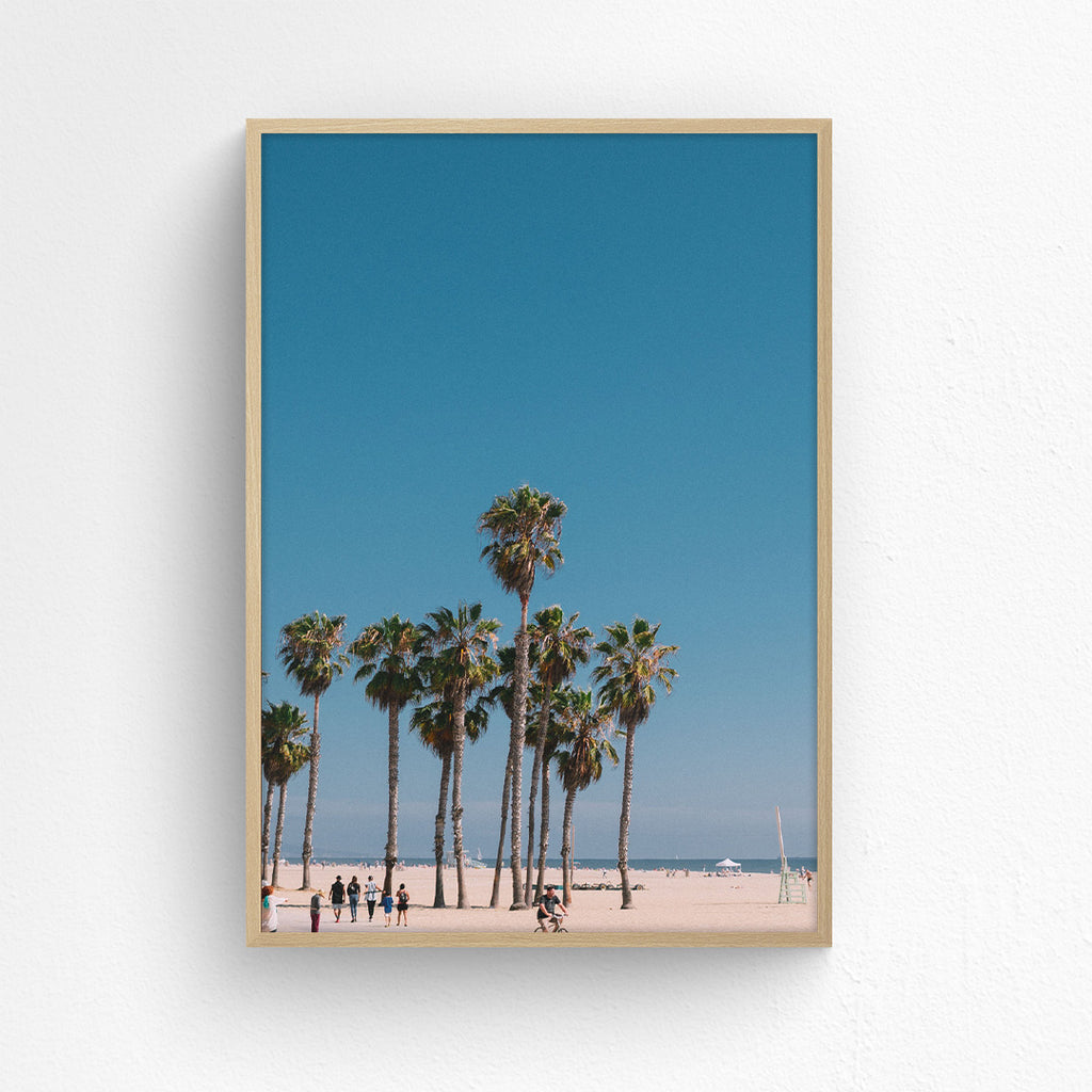 Blue Sky Over Santa Monica - Portrait