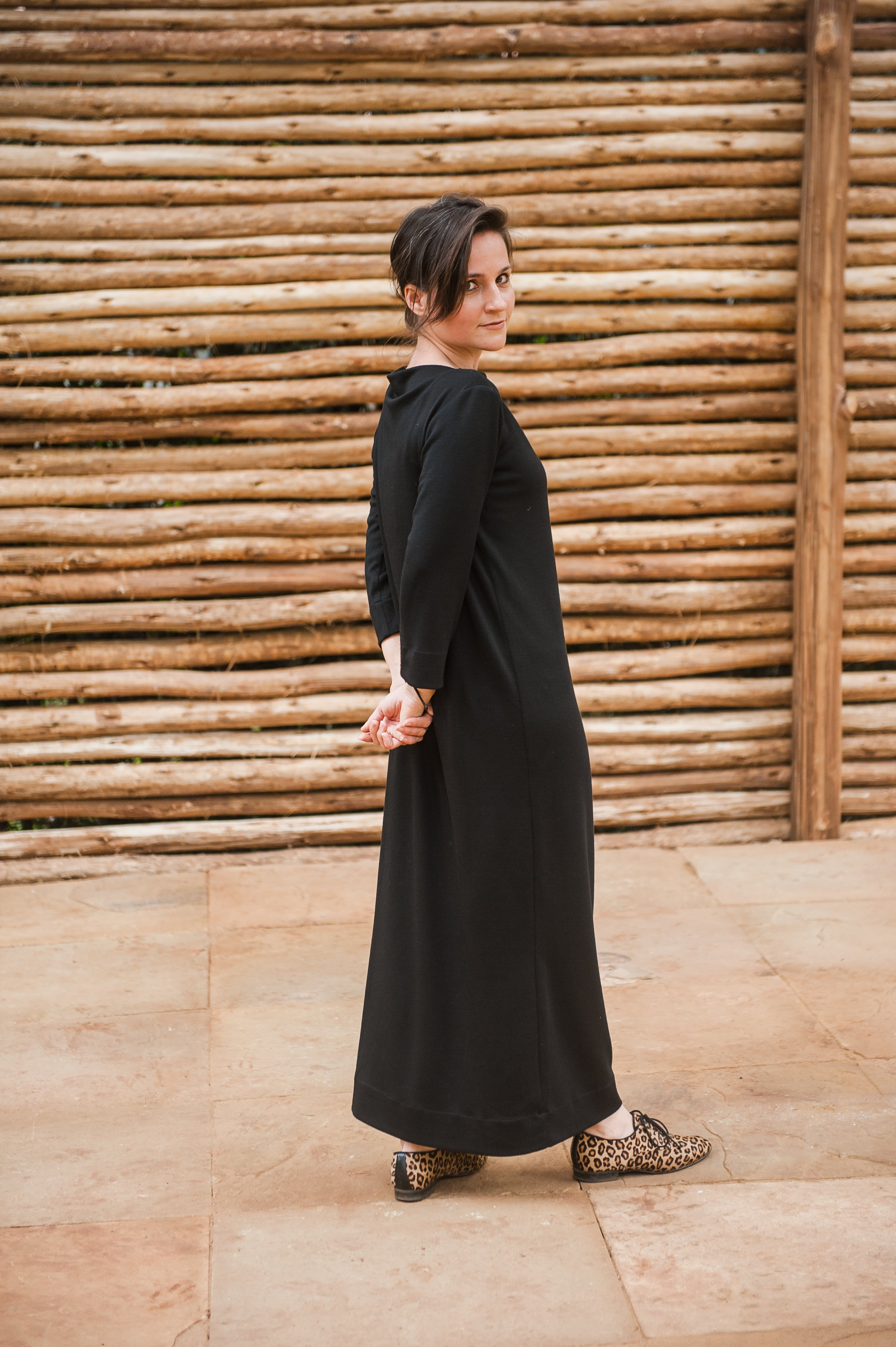 Ava Long, Stretch Dress Black