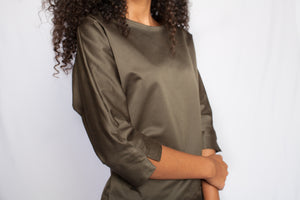 The Amani Blouse Safari Green