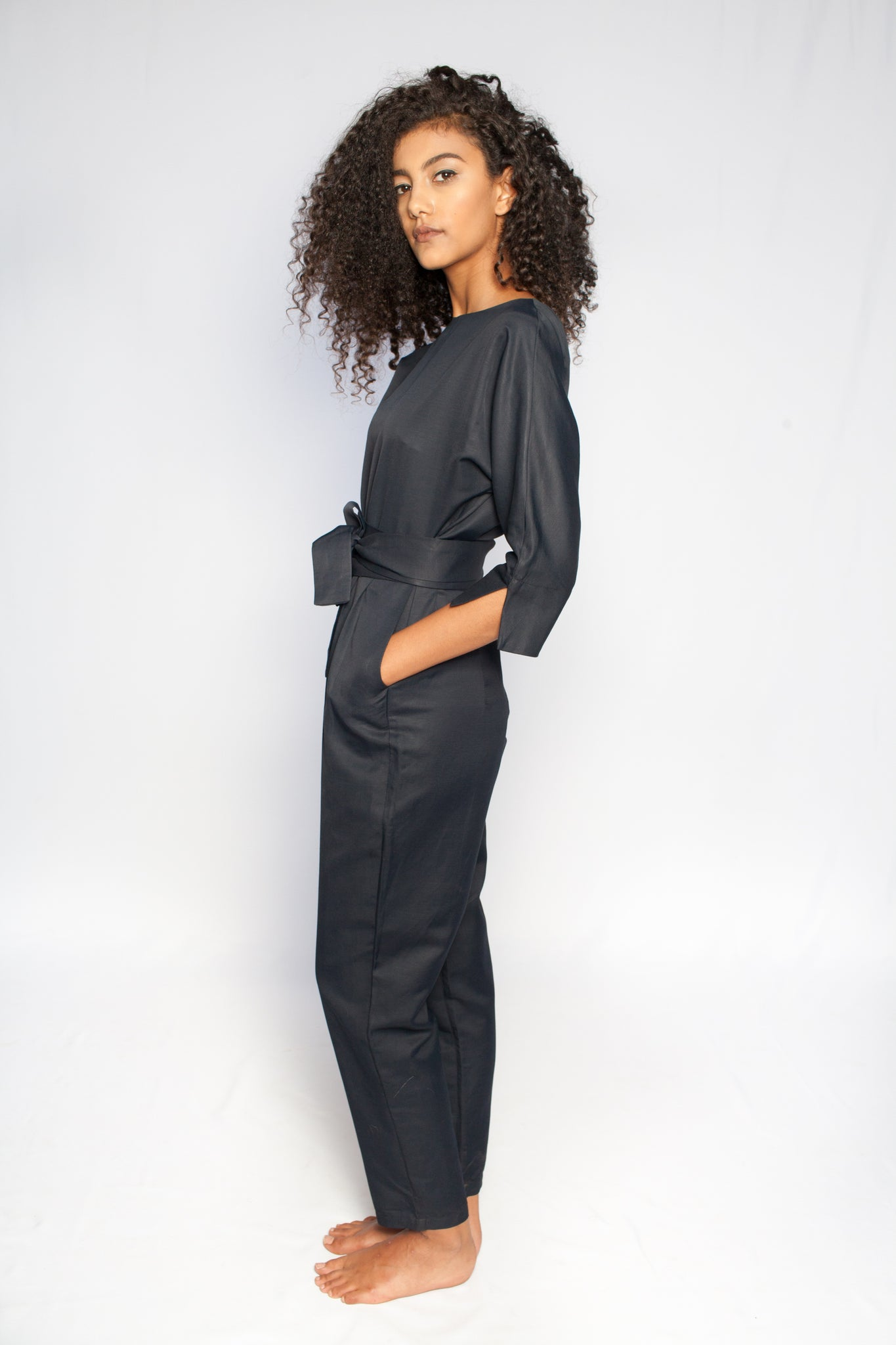 The Sahara Jumpsuit Navy Blue