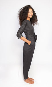 The Sahara Jumpsuit Dark Blue Squares
