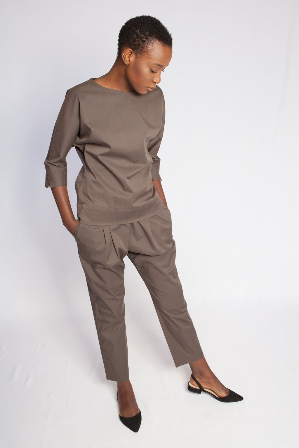 The Amani Blouse Safari Brown