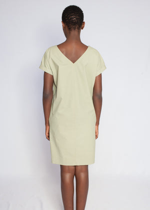 The Marna V-Back Dress Lime