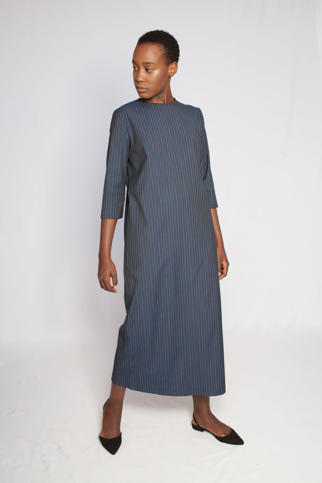 The Margot Dress Blue Striped
