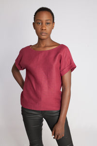 The Marna V-Back Top Maroon