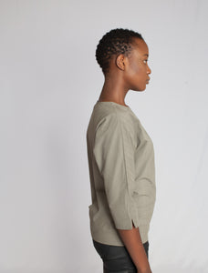 The Amani Blouse Eucalyptus
