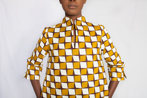 african print yellow dress 3