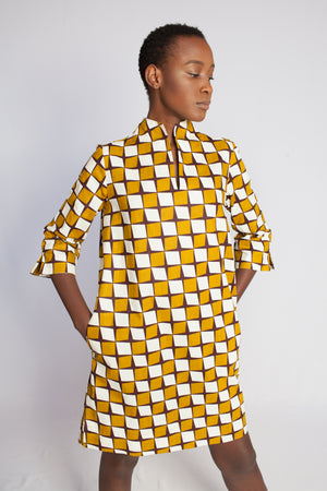 african print yellow dress 2