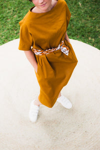 Rhapsody Oversized Dress Mustard