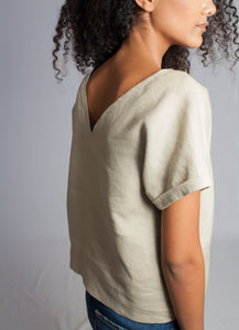 The Marna V-Back Top Neutral