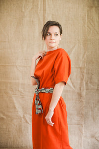 Rhapsody Oversized Dress Terracotta