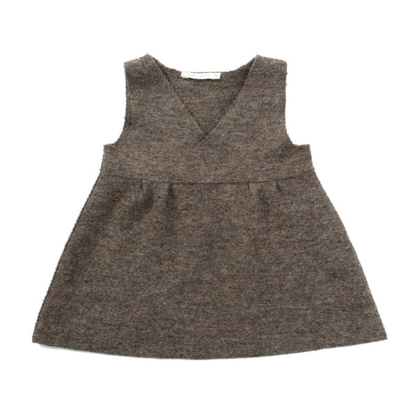 Felted V-neck Jumper