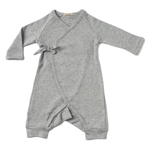 Kimono Onesie with Leggings in Brushed Heathered Knit