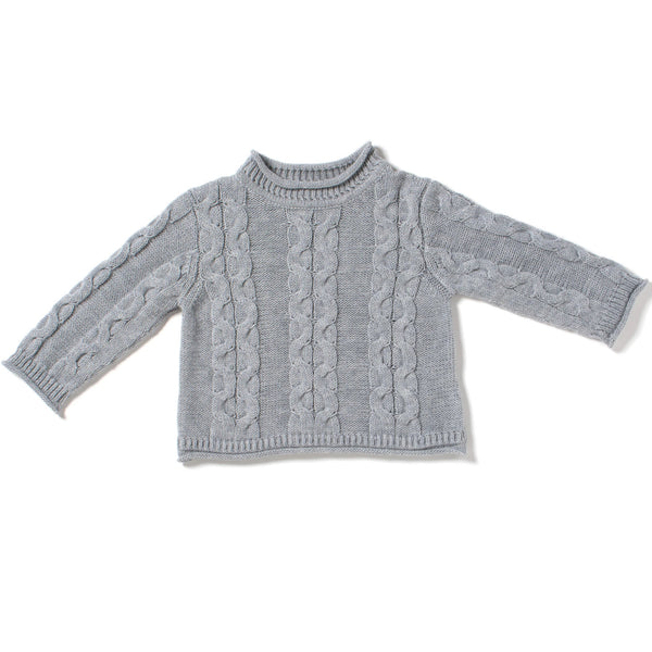 Mosaic Cable Mock Neck Sweater