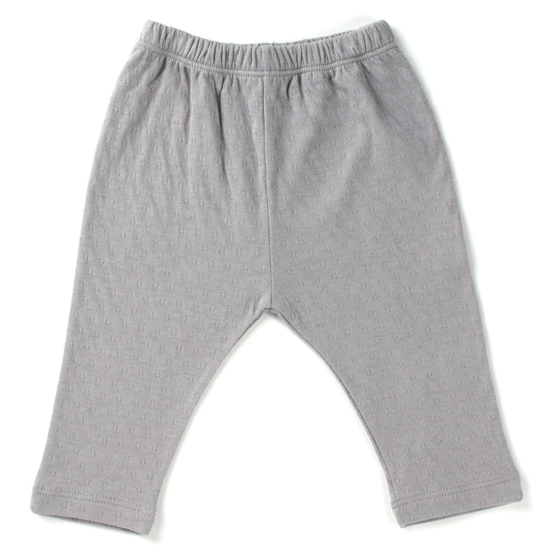 TANE organics pointelle pull on pants in color graphite