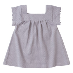 Pointelle Square Neck Dress