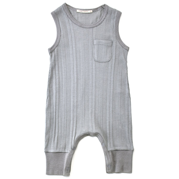 Sleeveless Ribbed Coverall