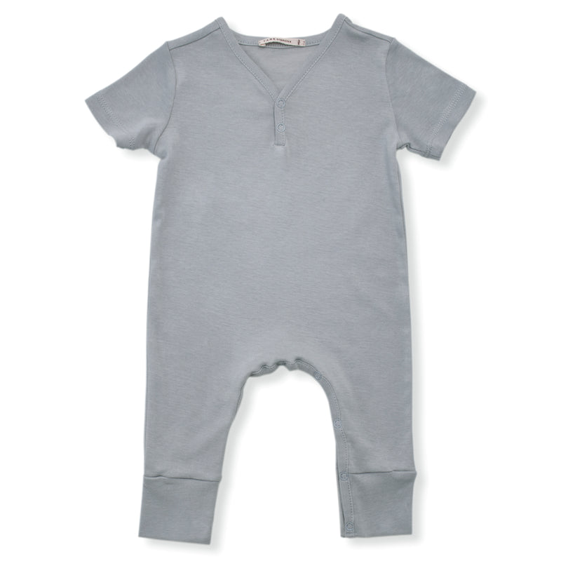 Short Sleeved V-neck Coverall