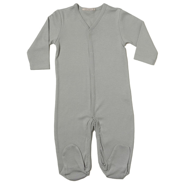V-neck Footie w/ Center Snaps