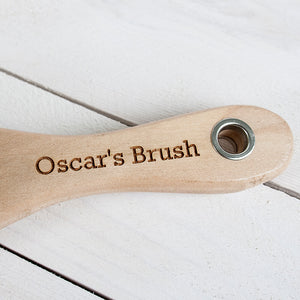 Personalised Wooden Dog Brush
