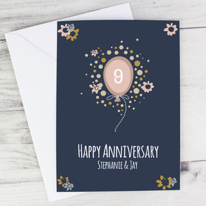 Personalised Rose Gold (ANY AGE) Balloon Card