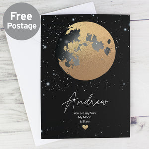 Personalised Sun, Moon and Stars Card