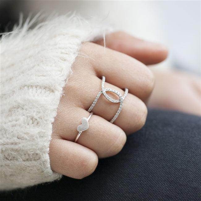 Sterling Silver KISS Ring