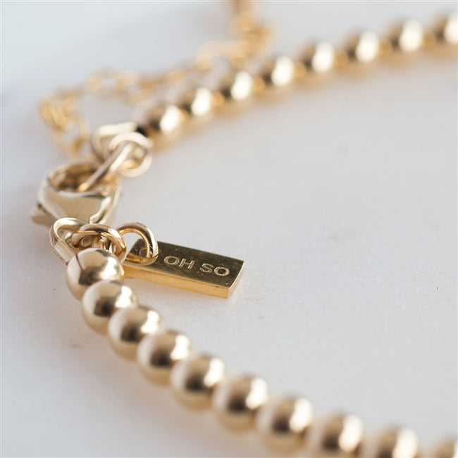 Gold 18th Birthday Bracelet