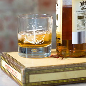 'Personalised 'Ship Faced' Whisky Glass.
