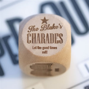 Family Charades Personalised Dice