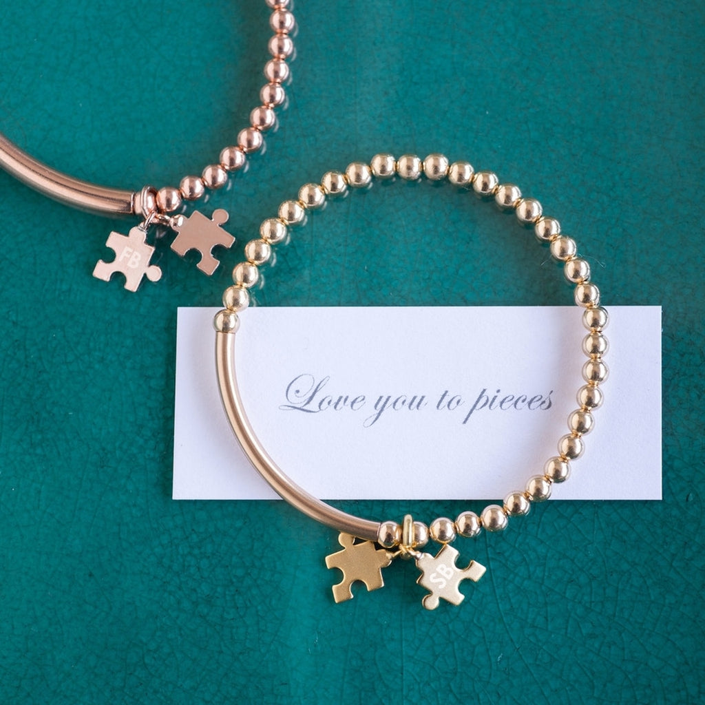 Gold 'Love You To Pieces' bracelet