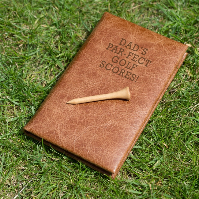 Personalised Leather Golf Notebook.