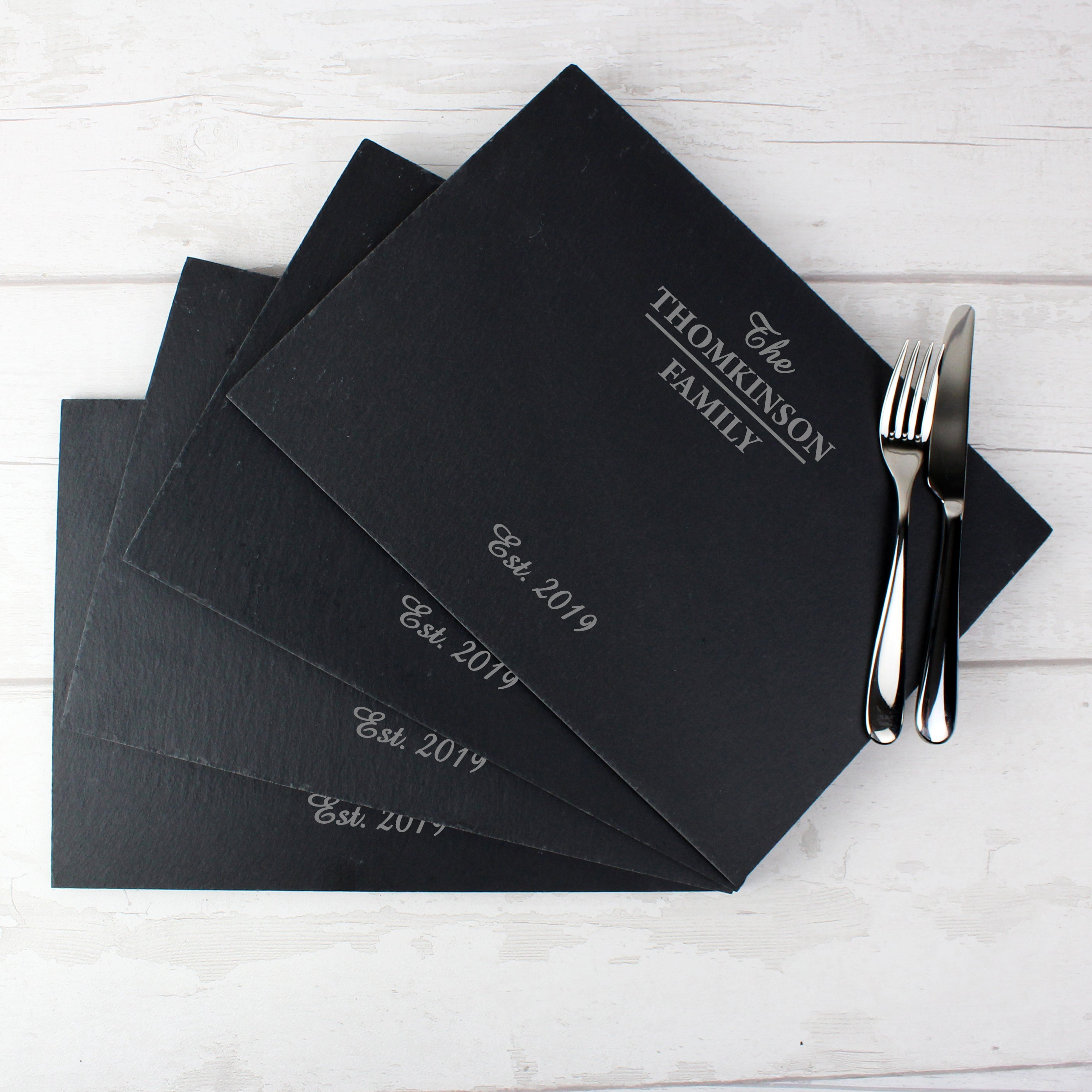 Family Slate Placemats - Pack of 4