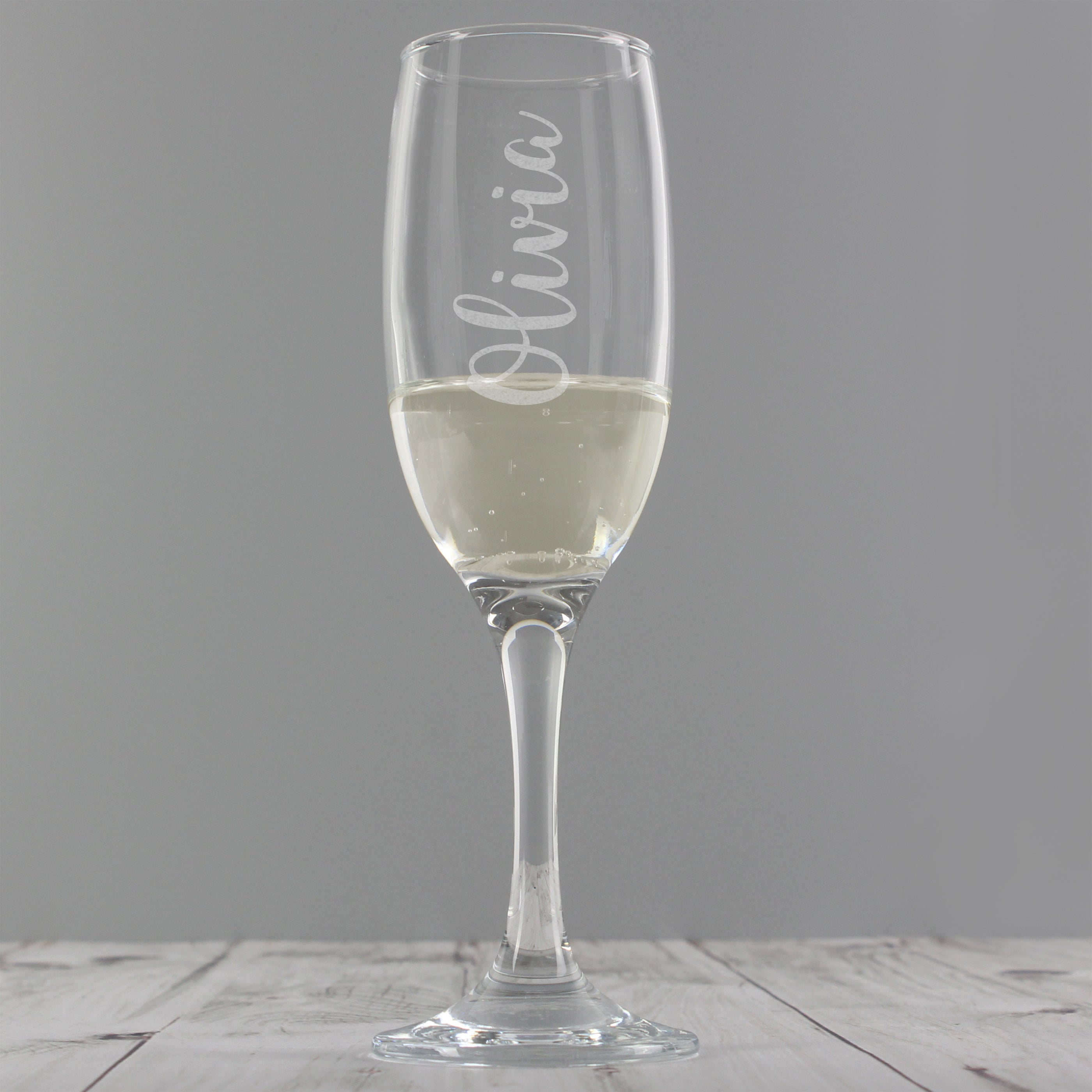 Personalised Name Glass Flute